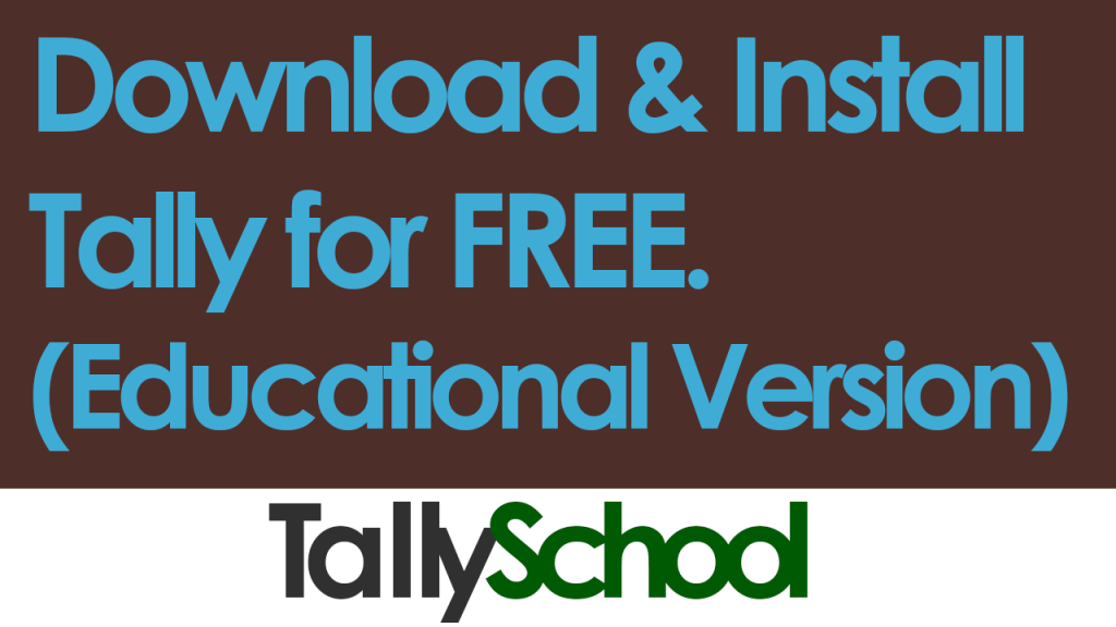 Download and Install Tally for free