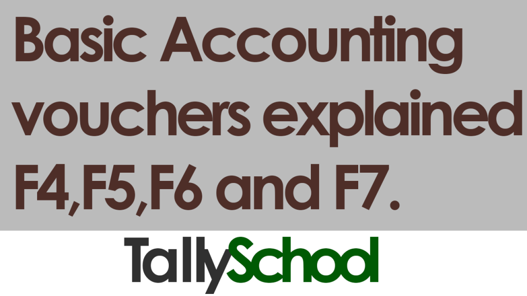 Basic Accounting Vouchers in Tally