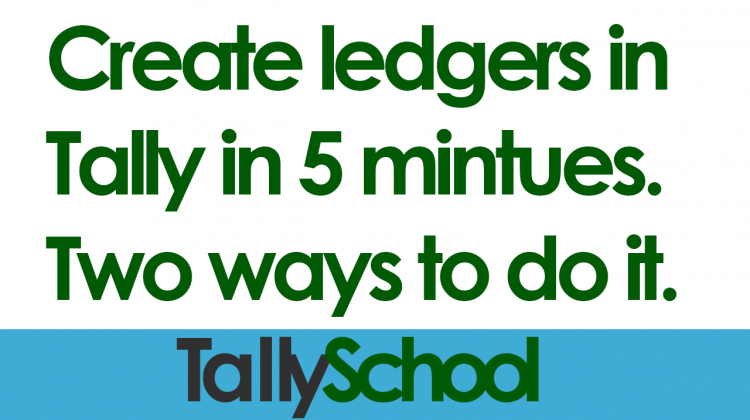 How to create a ledger in Tally