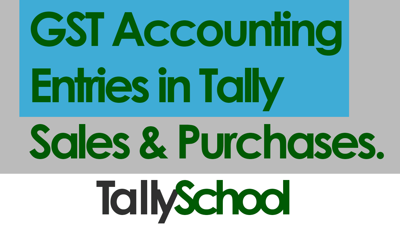 Free Tally GST Course Online - Can Start Right Now