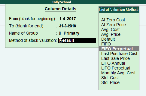 Changing Stock Valuation Method to FIFO Perpetual in Tally