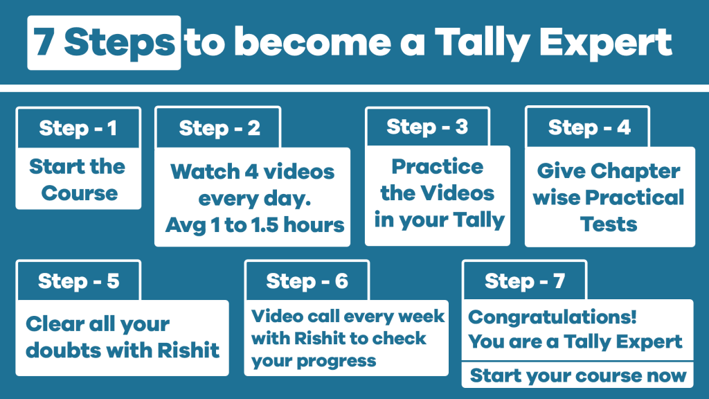 Steps to become a Tally Expert