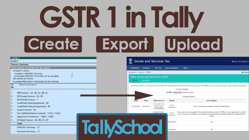 GSTR 1 in Tally ERP 9 - Automatically Created & Easy Export