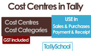 Cost Centres in Tally ERP 9