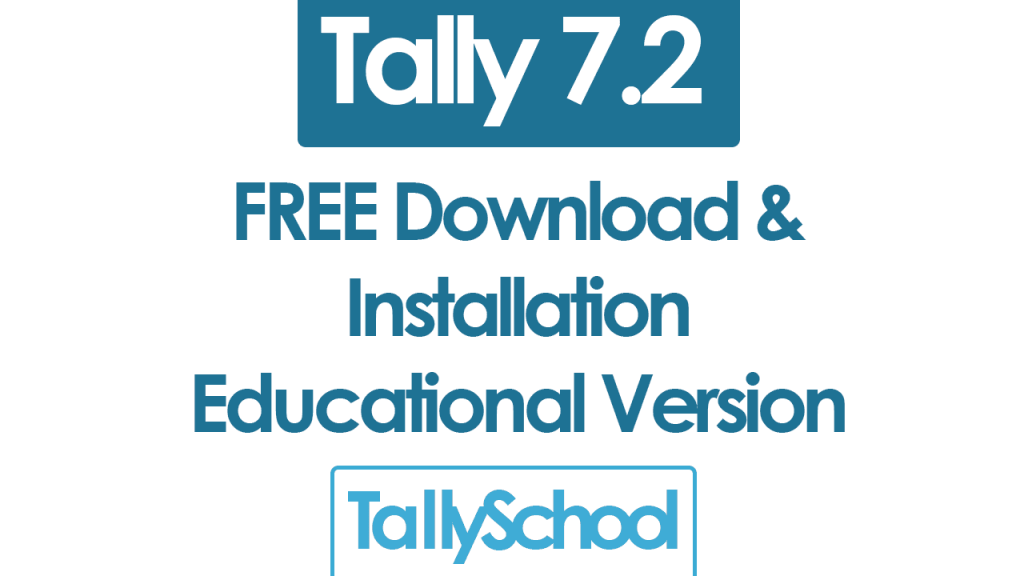 Tally 7.2 Free Download