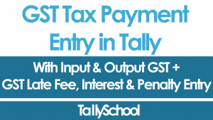 GST Tax Payment Entry in Tally