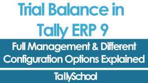 Trial Balance in Tally